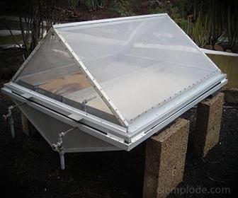 Destilador Solar, para producir Agua Destilada