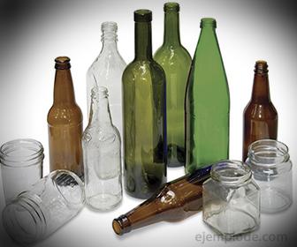 Botellas de Vidrio, fabricado con arena