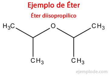 Ejemplo de Éter: Éter Diisopropilico