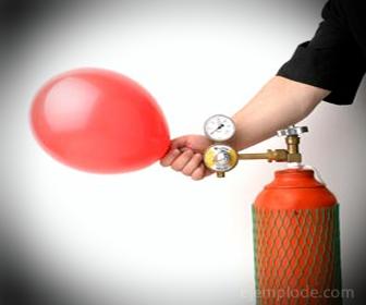 Gas Helio, Aplicación en inflado de globos