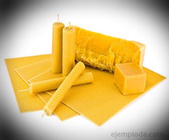 Productos hechos con cera de abeja