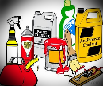 Algunos materiales inflamables