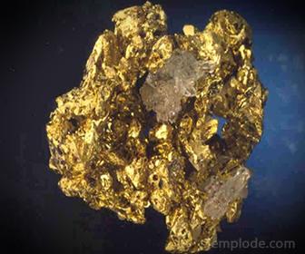 El oro se obtiene de las menas por Lixiviación