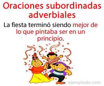 Las oraciones subordinadas adverbiales cumplen una función similar a la de un adverbio dentro de una oración.