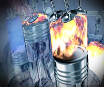 Combustión interna en motor de gasolina