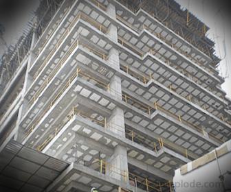 Construcción con aplicación de unicel