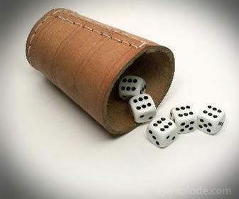 Los dados son utilizados para jugar los juegos de azar.