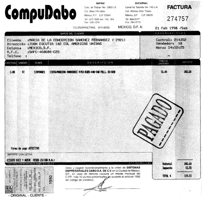 Ejemplo De Factura Comercial De Importacion | Joy Studio Design ...